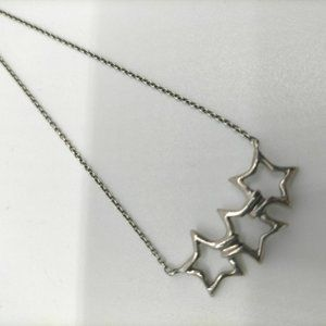 """Tiffany & Co.Necklace Triple Star Picasso 18"""""""